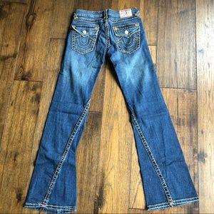 True Religion Blue Denim 'Julie' Jeans. Size 27